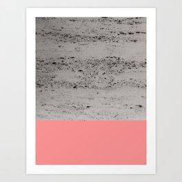 Light Coral on Concrete #2 #decor #art #society6 Art Print