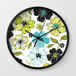 Flower Field 2 Wall Clock