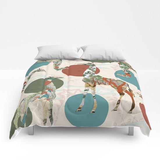 Giraffe Polka Comforters