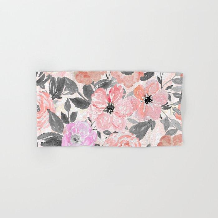 Elegant simple watercolor floral Hand & Bath Towel