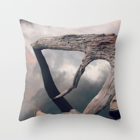 Suspended reflection Throw Pillow