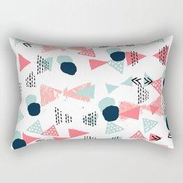 Gender neutral trendy mint navy abstract art for nursery baby college dorm Rectangular Pillow