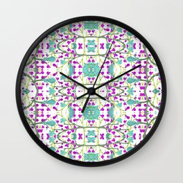 Colorful Modern Floral Pattern Wall Clock