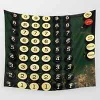 numbers Wall Tapestries featuring Numbers by Hazel Bellhop
