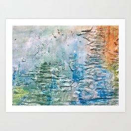 Textured Waves Art Print