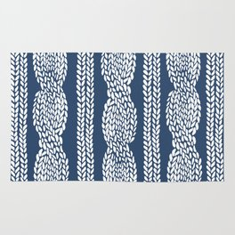 Cable Navy Rug