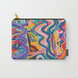 The Purple Kid with his Mother and the Bird Graffiti Art Expressionism Carry-All Pouch