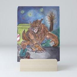 Werewolf Attack Mini Art Print