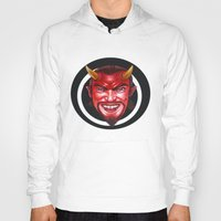 devil Hoodies featuring Devil by Michael Forbes