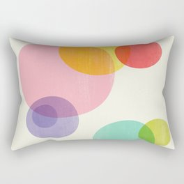 Rainbow Bubbles Rectangular Pillow