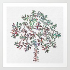 Tree of Leaves Art Print