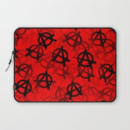 Anarchy (black on red) Laptop Sleeve
