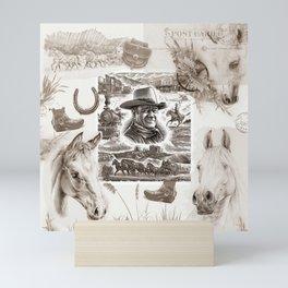 Country Western Mini Art Print
