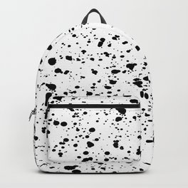 Paint Spatter Black and White Backpack