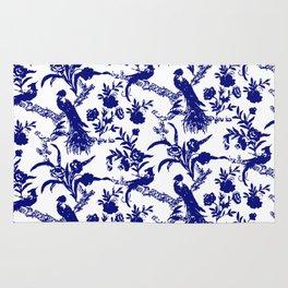 Royal french navy peacock Rug