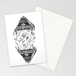 On how the mystical levitation of divers are induced by floating pyramids Stationery Cards
