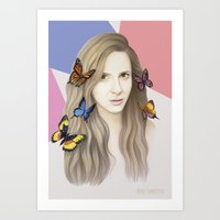 karen hallion Art Prints featuring Karen by Anya Timofeeva