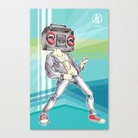 radiohead Canvas Prints featuring RadioHead by Andrea Fonseca Illustration