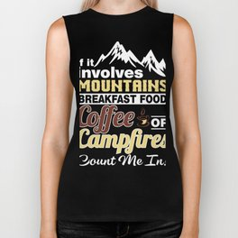 Gift Ideas For Coffee And Camping Lover. Biker Tank