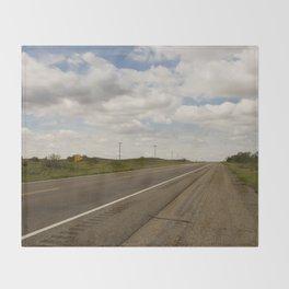 Empty Highway Throw Blanket