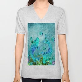 KOI POND ADVENTURE Unisex V-Neck