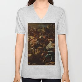 Nicolas Poussin - The Victory of Joshua over the Amorites Unisex V-Neck