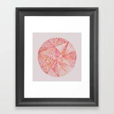Circle Of Life - pink & orange Framed Art Print