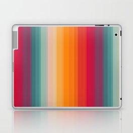 Retro Rainbow Striped Pattern Laptop & iPad Skin