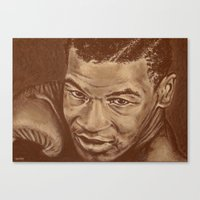 mike tyson Canvas Prints featuring round 7...mike tyson by noblackcolor