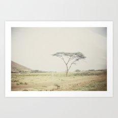 faded::kenya Art Print