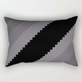 Pixel Old Hollywood Dremas - Monochrome Grey Rectangular Pillow