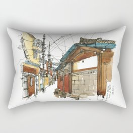 vintige city-seoul Rectangular Pillow