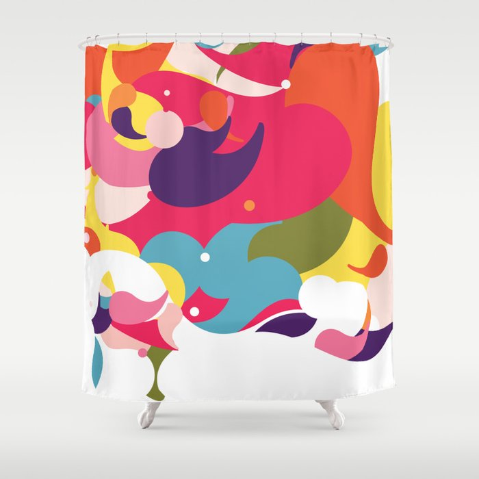 Colorful Circus Shower Curtain By Pureefantastico