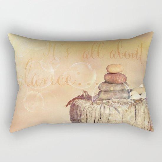 Balance Stone Cairn Sunset  Bubbles Light Rectangular Pillow