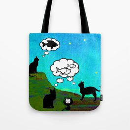 Cats Dreaming inTwilight Tote Bag