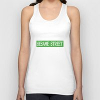 sesame street Tank Tops featuring Im-Still-Kind-Of-Mad-They-Never-Actually-Told-Us-How-To-Get-To-Sesame-Street-T-Shirt by jekonu