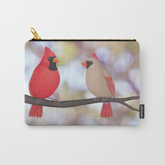 psychedelic cardinals bokeh Carry-All Pouch