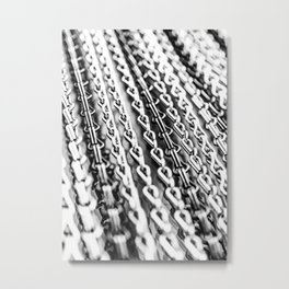 Chains. Black And White. Metal Print