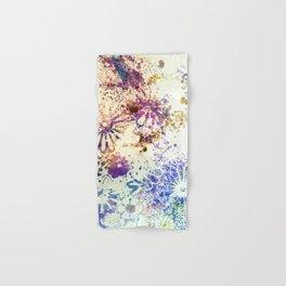 Stenciled Flowers Hand & Bath Towel