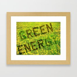 Green Energy Concept Framed Art Print