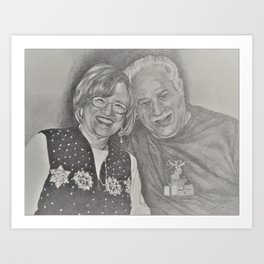 Charles an Gina Art Print