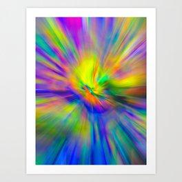 Hallucinogenic Light Painting Art Print