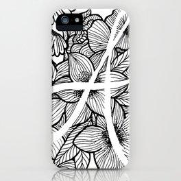 "Letter ""A"" Floral Design iPhone Case"