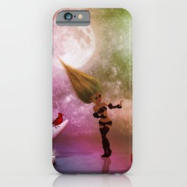 Little fairy with birds and cats iPhone Case