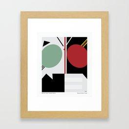 Kamen Rider - Shadow Moon and Black Framed Art Print