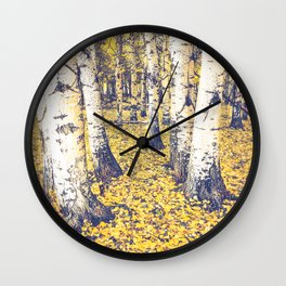 Golden Floor Wall Clock
