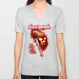 HALLOWEEN - The night he come home Unisex V-Neck