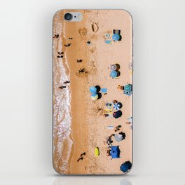 People On Algarve Beach In Portugal, Drone Photography, Aerial Photo, Ocean Wall Art Print iPhone Skin