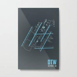 DTW Metal Print