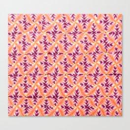 Raspberry Orange Repeat Canvas Print